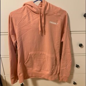 Gymshark hoodie- peach Bellini size small
